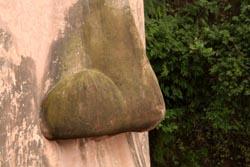 楽山大仏の鼻