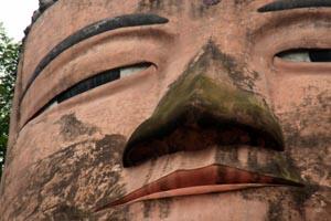 楽山大仏の顔