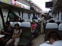 重慶から貴陽への列車