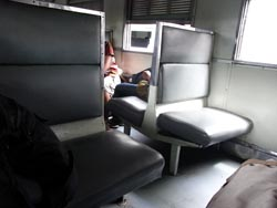 パクチョン行き列車