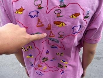 タイ地図Tシャツ