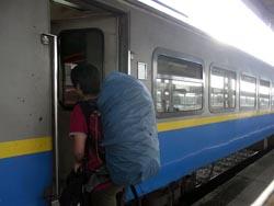 バタワース列車に乗車