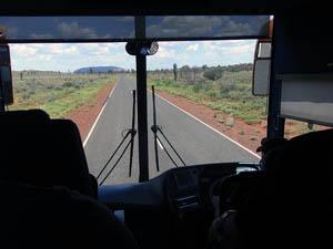 バスからエアーズロック