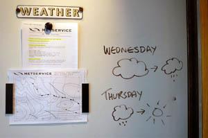 Visitor centre 天気