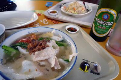 魚片米粉炒飯青島ビール