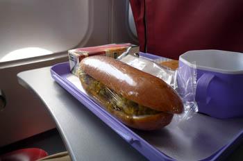 コロンボチェンナイ機内食