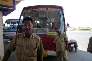 ナガルコイル行きバス