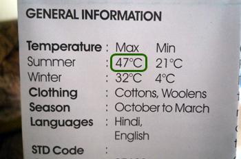 カジュラーホ最高気温