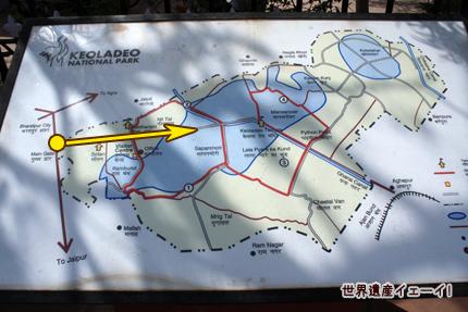 ケオラデオ国立公園地図