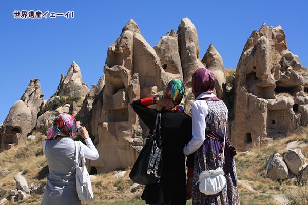 ギョレメ屋外博物館途中の奇岩