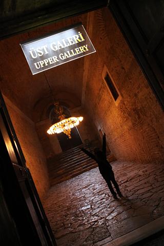 アヤソフィア博物館2階へ