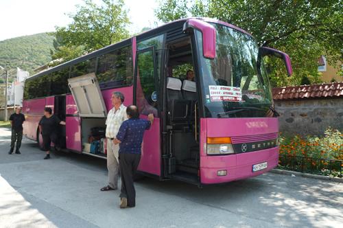 リラ修道院行きバス
