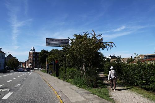クロンボー城への道