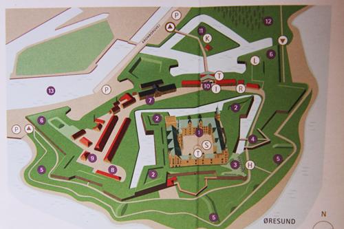 クロンボー城鳥瞰図