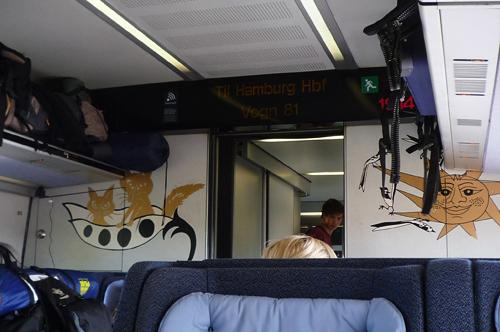 コペンハーゲン~ハンブルク電車
