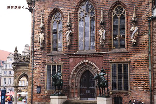 市庁舎の側面