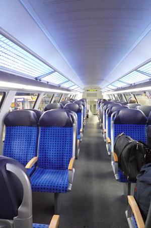 リューベック行き列車