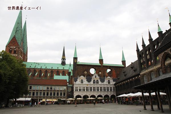 マリエン教会と市庁舎