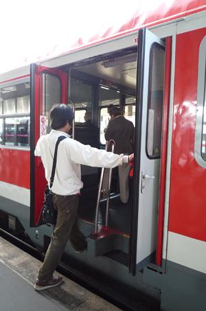 ヒルデスハイム行き電車