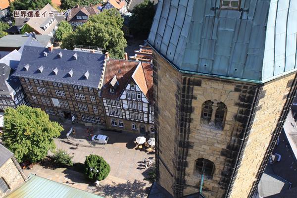 マルクト教会塔上からの眺望