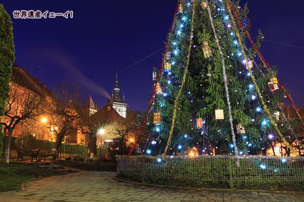 シギショアラのクリスマスツリー