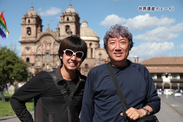 アルマス広場にて富井義夫さんと記念撮影