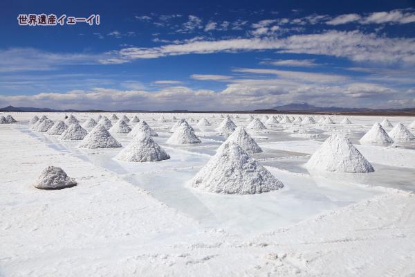 ウユニ塩湖の盛り塩