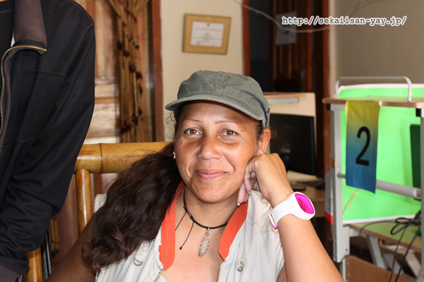 サン・アグスティン、インフォメーションのおばさん