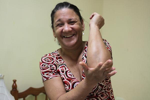 キューバの首都ハバナのおばちゃん